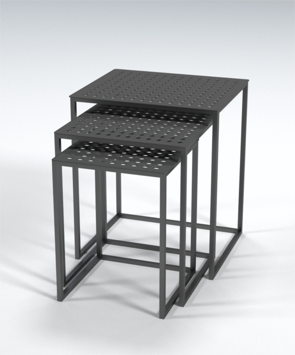 Side Table Tris - 3DOcean Item for Sale