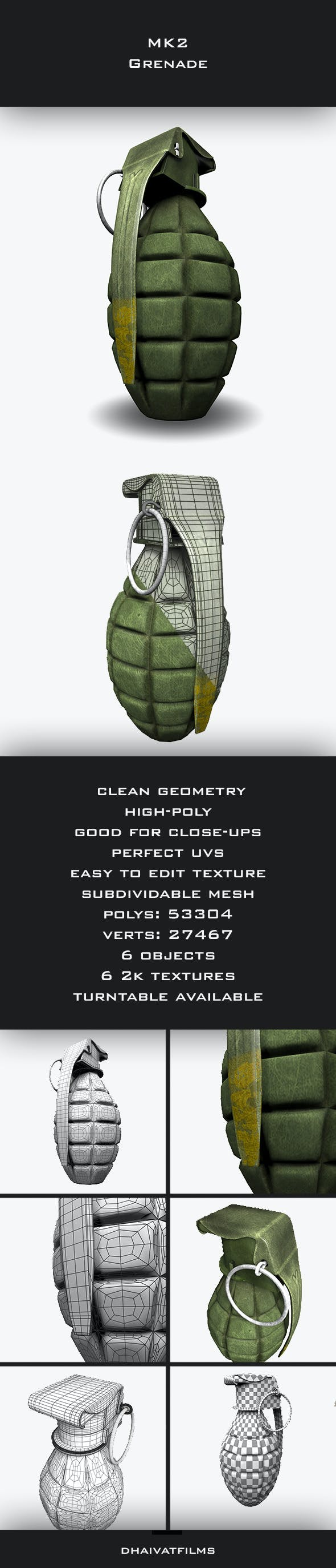 MK2 Grenade - 3DOcean Item for Sale