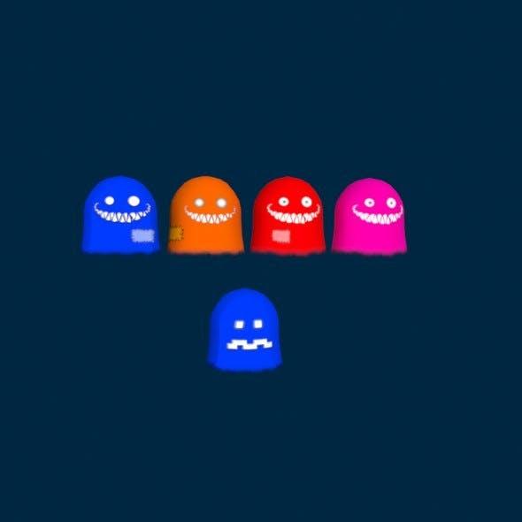 pacman ghosts - 3DOcean Item for Sale