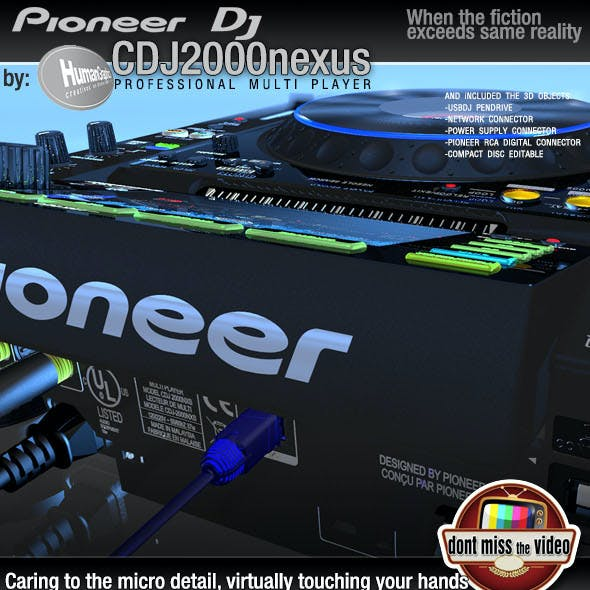 Realistic CD Player, Pioneer CDJ2000nexus black