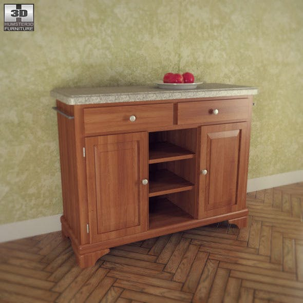 Buffet with Gray Granite Top - Home Styles - 3DOcean Item for Sale