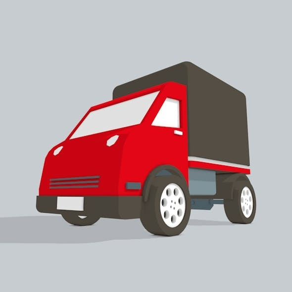 3D Truck low poly - 3DOcean Item for Sale