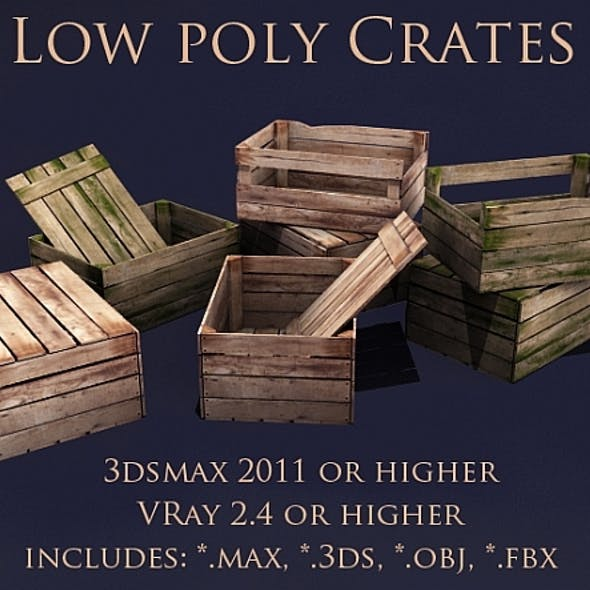 Low poly crates