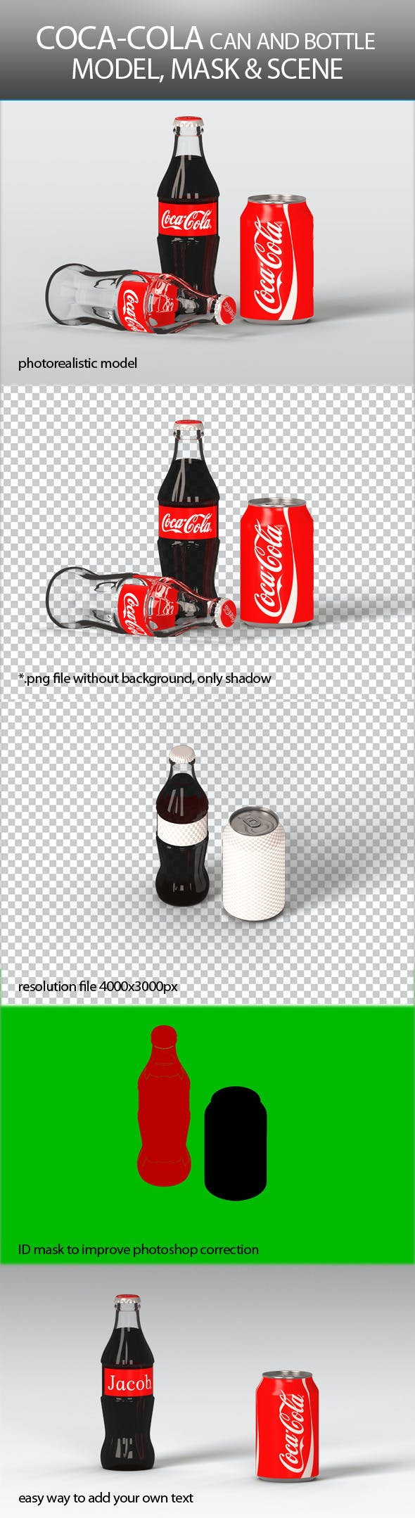 Coca Cola Can and Bottle - 3DOcean Item for Sale
