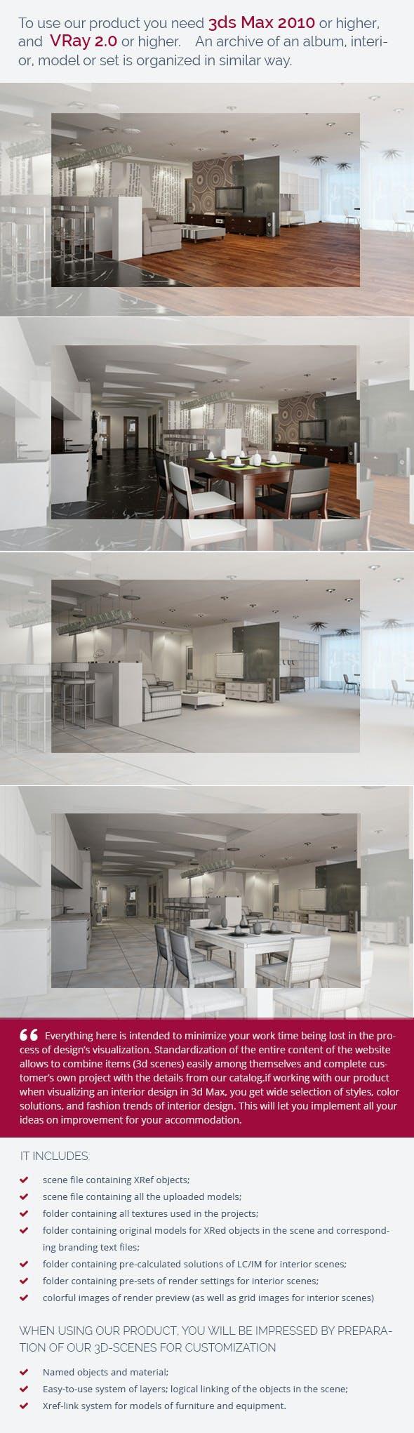 Livingroom 0146 - 3DOcean Item for Sale
