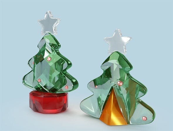 3d Crystal Christmas Tree - 3DOcean Item for Sale