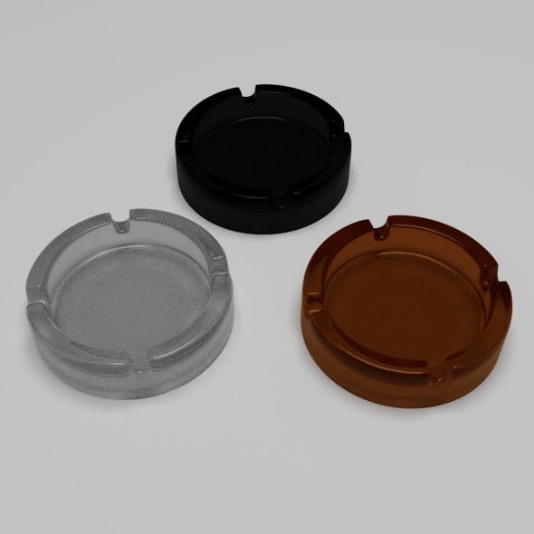Glassy Ashtrays - 3DOcean Item for Sale