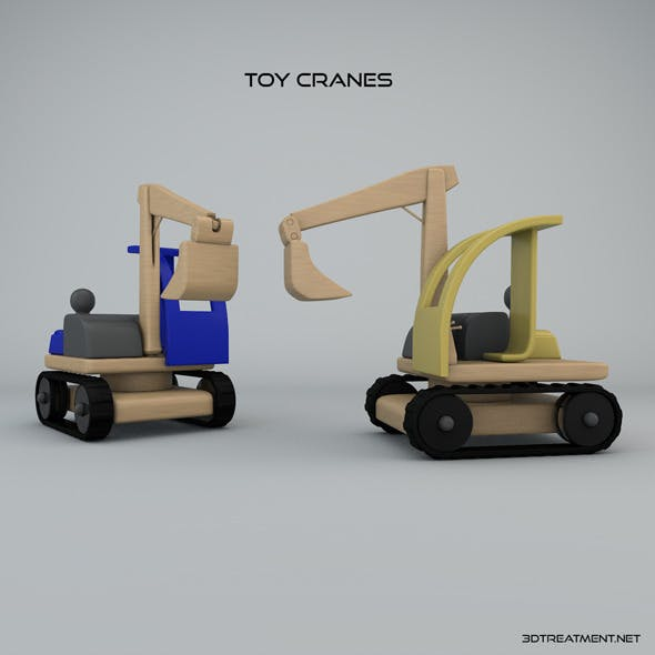 Toy Cranes - 3DOcean Item for Sale