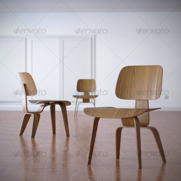 Charles Eames DCW Dining Chair 1945 - 3DOcean Item for Sale
