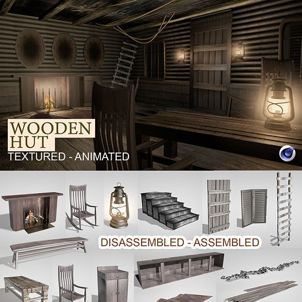 Wooden Hut Render Setup
