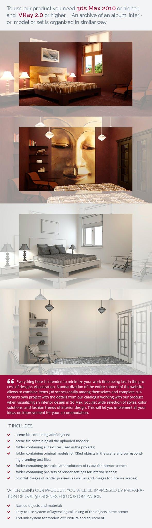 Bedroom 0215 - 3DOcean Item for Sale