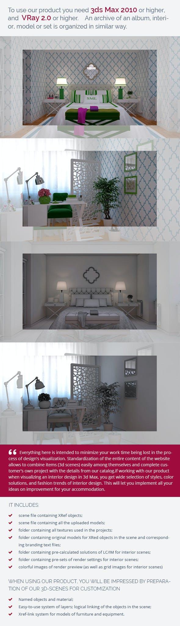 Bedroom 0385 - 3DOcean Item for Sale
