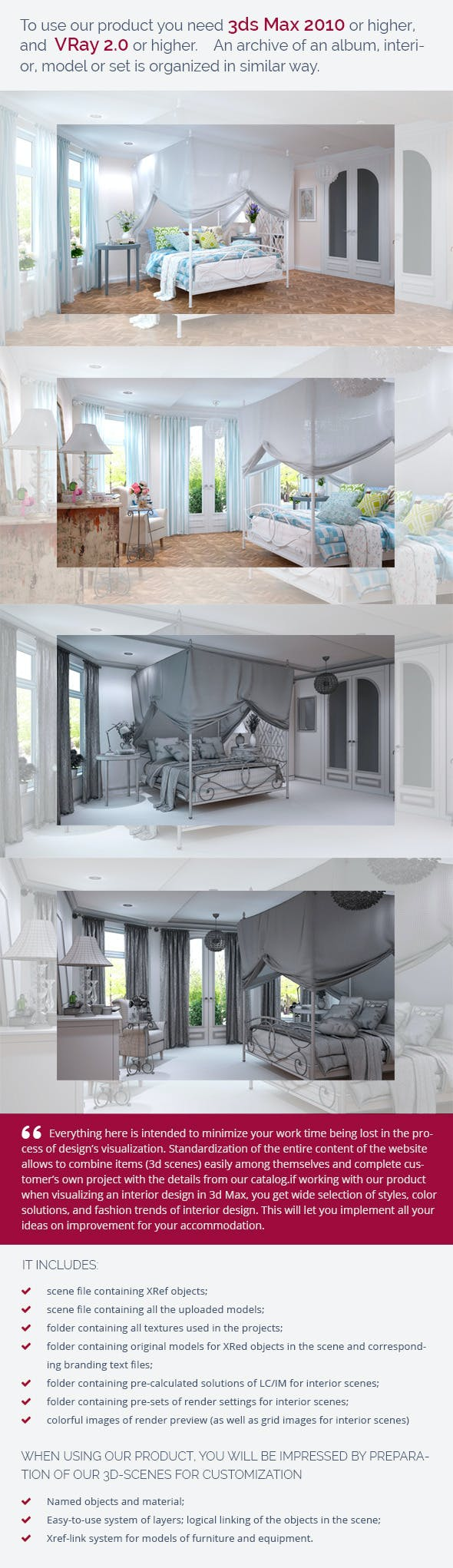 Bedroom 0386 - 3DOcean Item for Sale