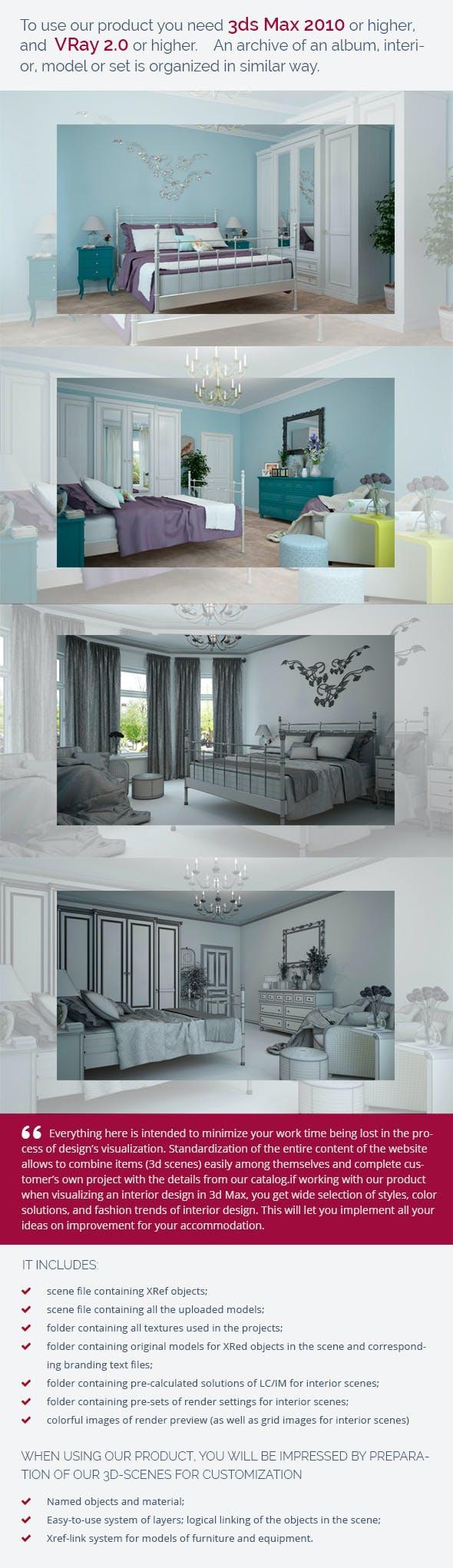 Bedroom 0396 - 3DOcean Item for Sale