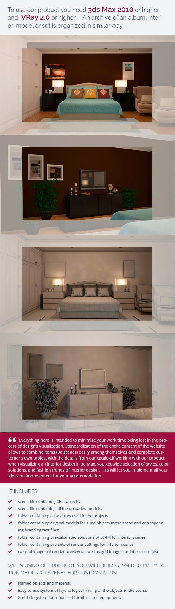 Bedroom 0416 - 3DOcean Item for Sale