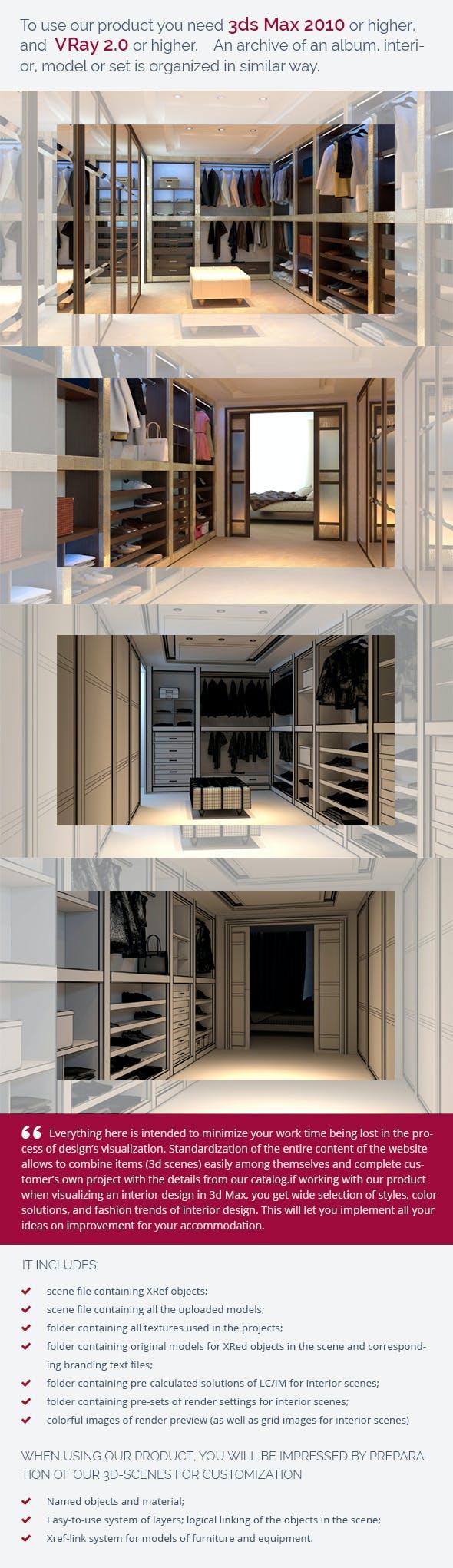 Dressing Room 0339 - 3DOcean Item for Sale
