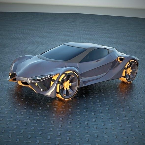 E futuron futuristic concept car
