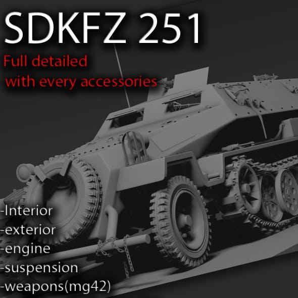 Sdkfz 251 High poly