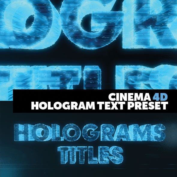 Cinema 4D Title Preset Holograms Style