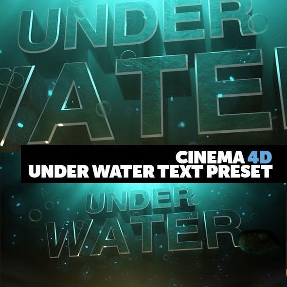 Cinema 4D Title Preset Under Water Style