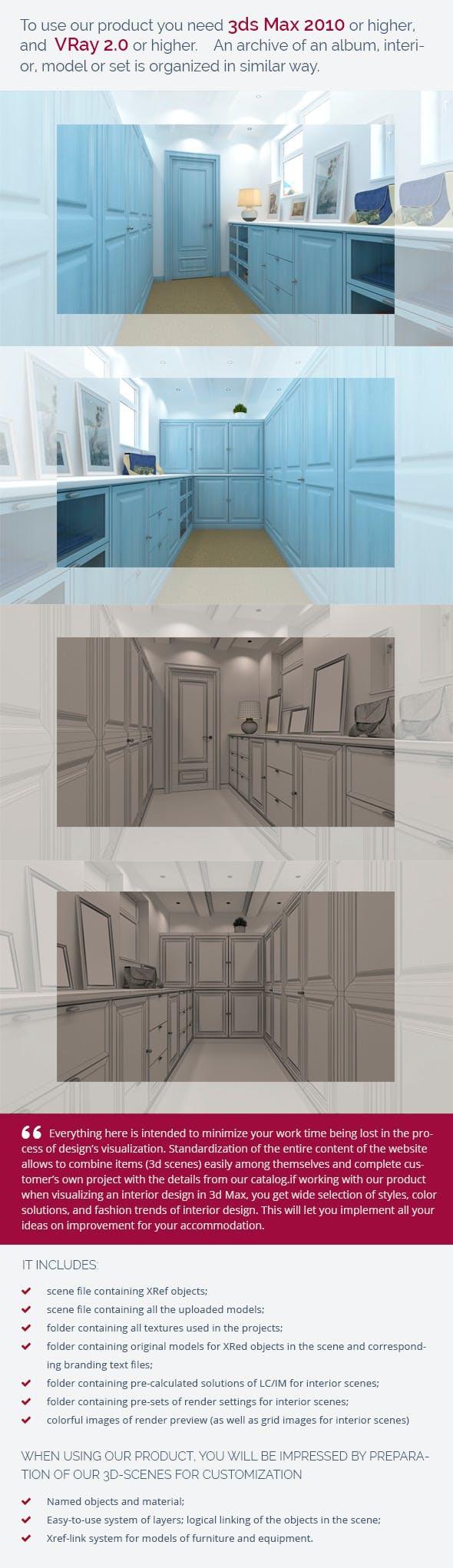 Dressing Room 0342 - 3DOcean Item for Sale