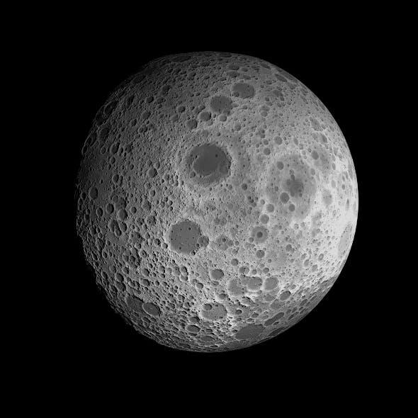 23K Realistic Moon - 3DOcean Item for Sale