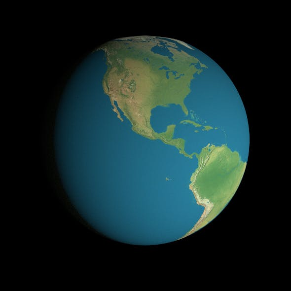 16K Earth Geographical Model - 3DOcean Item for Sale