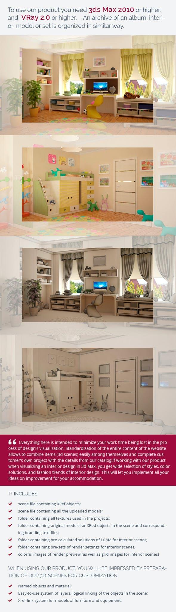 Nursery 0449 - 3DOcean Item for Sale