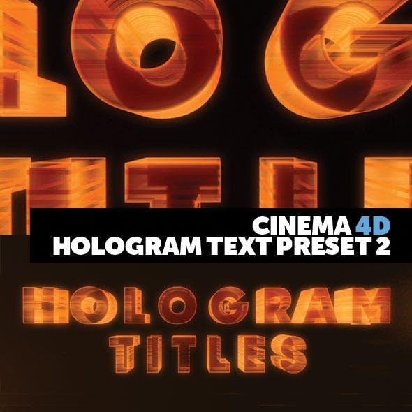 Cinema 4D Title Preset Holograms Style 2