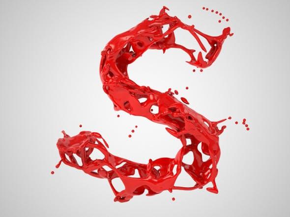 Alphabet Liquid: S - 3DOcean Item for Sale