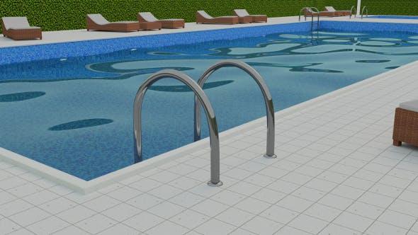 Swimming Pool Scene - 3DOcean Item for Sale
