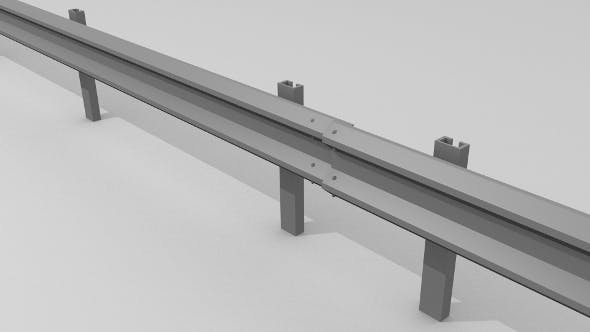Traffic railing - 3DOcean Item for Sale