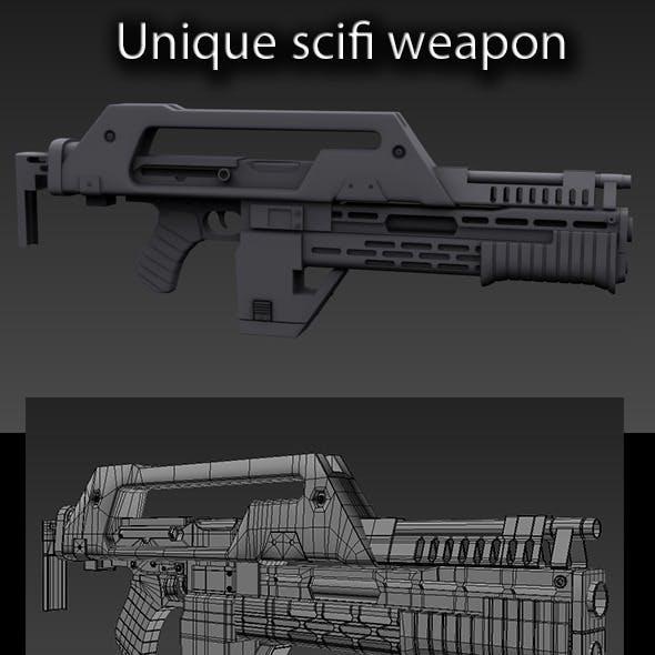 Unique scifi weapon