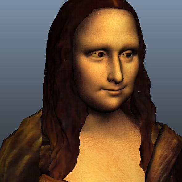 Mona Lisa AND expression blend  - 3DOcean Item for Sale