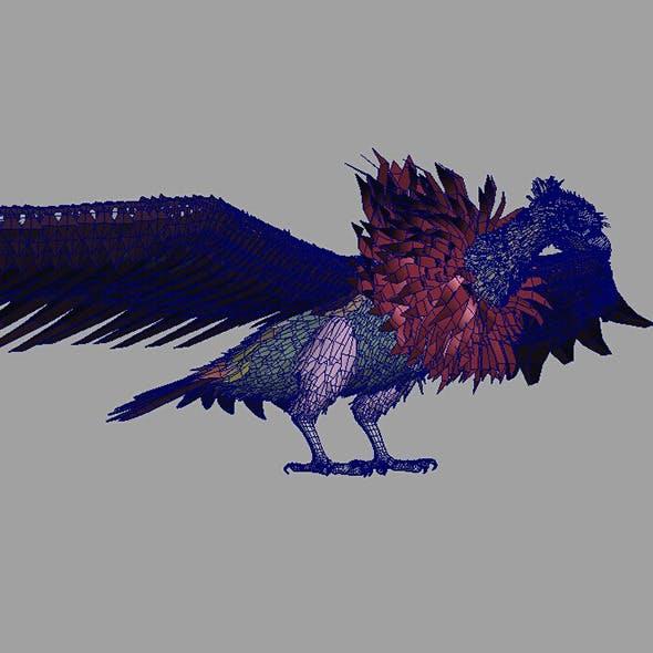 bald eagle model&blend shape
