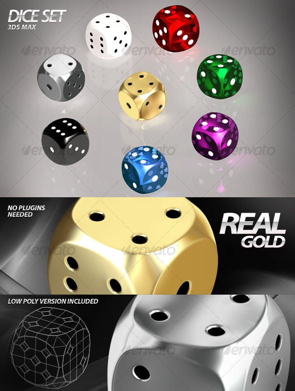 Dice Set – 3ds Max - 3DOcean Item for Sale