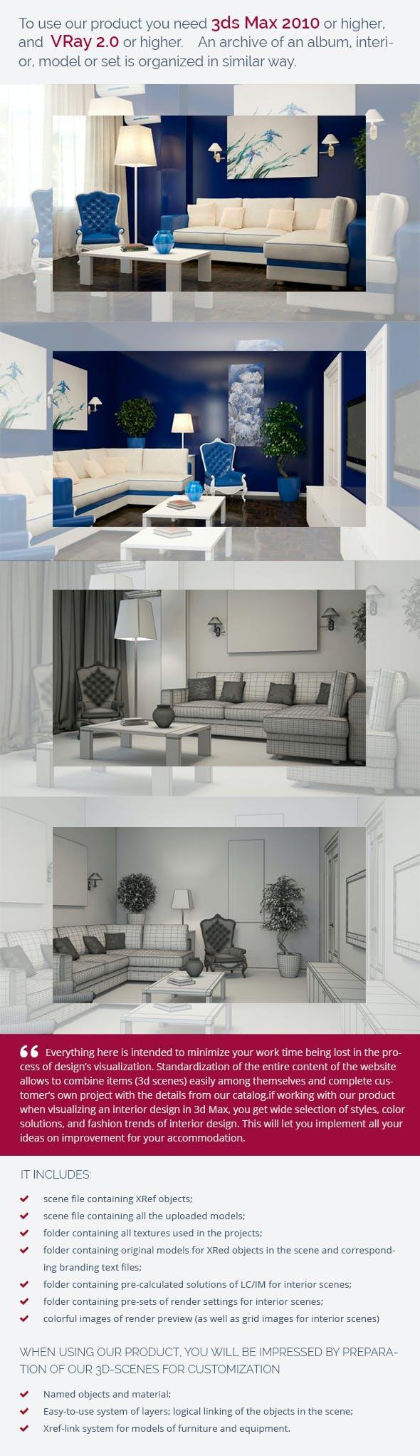 Living Room 0173 - 3DOcean Item for Sale