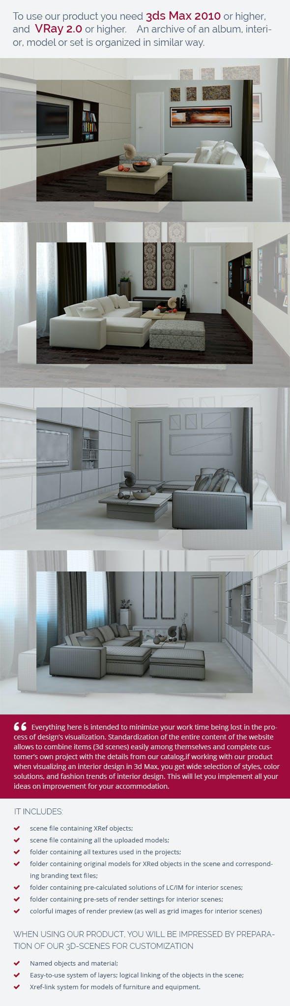 Living Room 0263 - 3DOcean Item for Sale