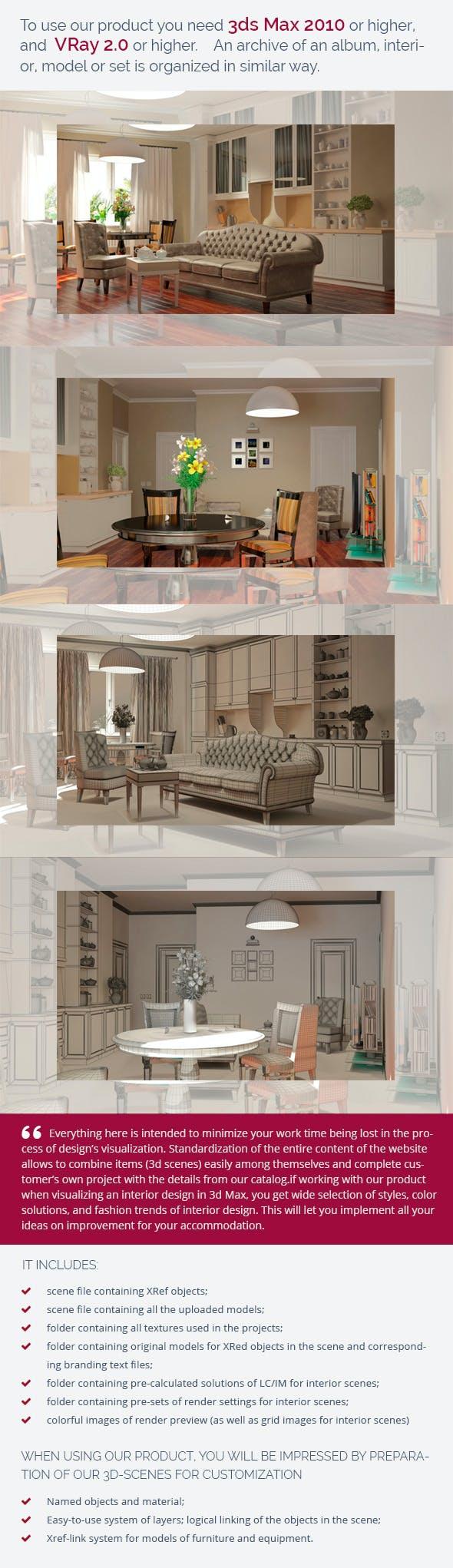 Living Room 0275 - 3DOcean Item for Sale