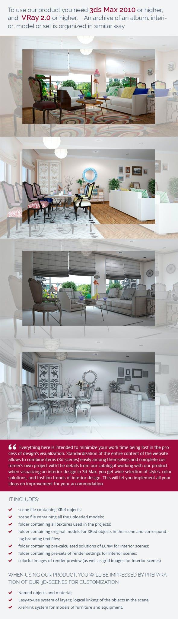 Living Room 0439 - 3DOcean Item for Sale