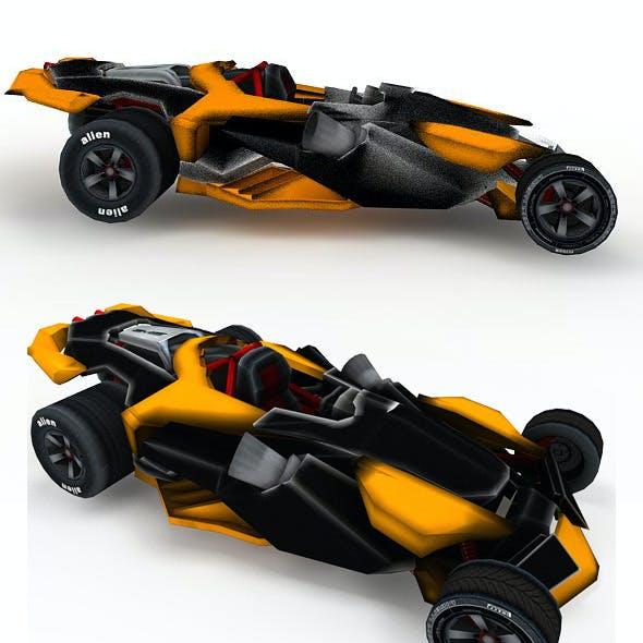 Futuristic Sportcar or Racing car