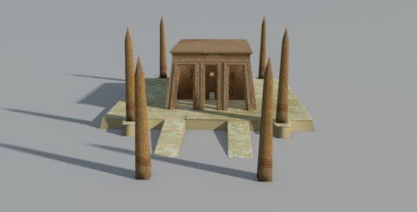 Ancient Egyptian Obelisk Temple - 3DOcean Item for Sale