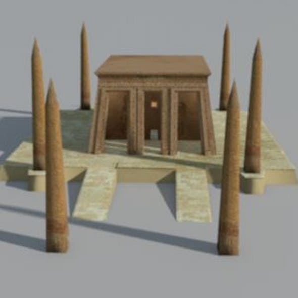 Ancient Egyptian Obelisk Temple