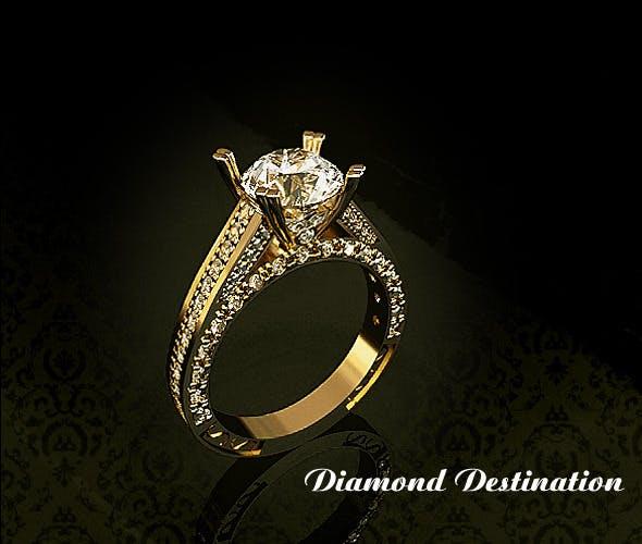 Golden Ring-1 - 3DOcean Item for Sale