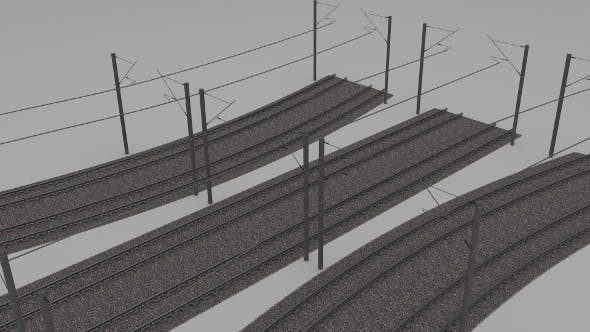 Electrified train line - 3DOcean Item for Sale