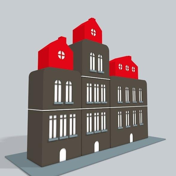 3D Buildings Low Poly