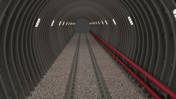 Subway tunnel - 3DOcean Item for Sale