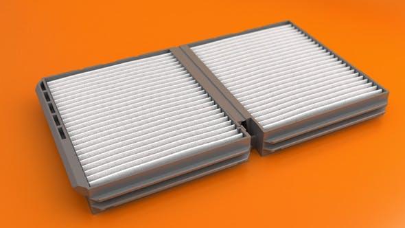 Car Air Filter - 3DOcean Item for Sale