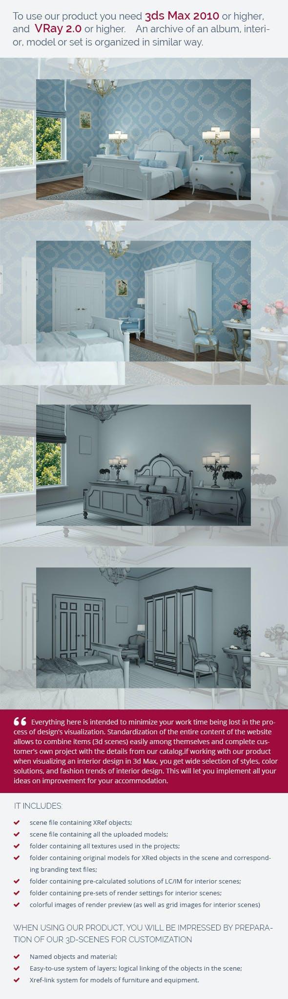 Bedroom 0390 - 3DOcean Item for Sale
