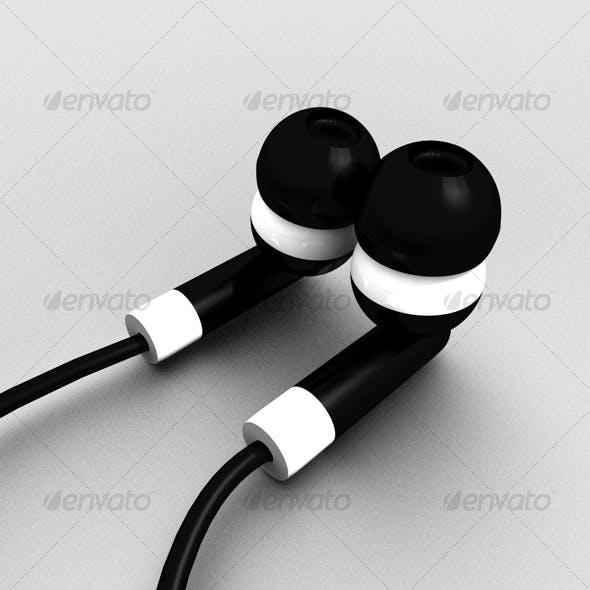 Beautiful ear plug headphone - 3DOcean Item for Sale
